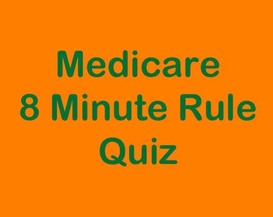 PT Billing Services Medicare 8 Minute Rule Quiz Graphic