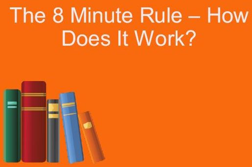 The 8 Minute Rule Graphic